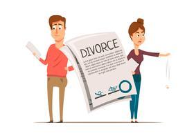 Skilsmässaavtal Par Sammansättning vektor