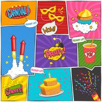 Party-Comic-Seite Design