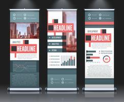 uppbyggda infografiska bannersuppsättning
