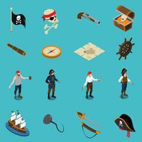 pirater isometriska ikoner