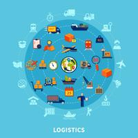 Logistische Runde Zusammensetzung vektor