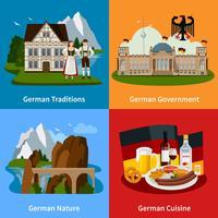 Deutschland-Reise-flaches Konzept