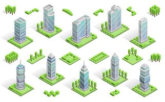 Stadthäuser Zusammensetzung vektor