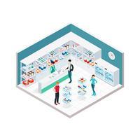 Chemiker Shop Interior Zusammensetzung vektor