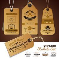 Geschäfte Vintage Etiketten gesetzt vektor