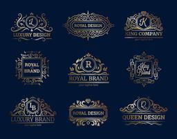 Designset für Luxus-Etiketten vektor