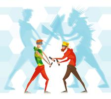 cybersport esport spel vr platt affisch vektor