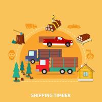 lumberjack färgad komposition