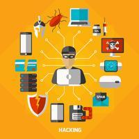 Hacking Methods Runde Zusammensetzung vektor