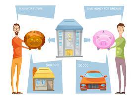 Uppnå ekonomisk målkoncept vektor