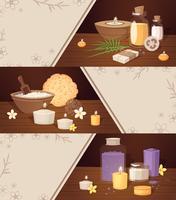 Badekurort-Schönheits-Karikatur-horizontale Fahnen
