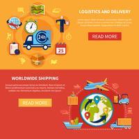 Logistikbannersammansättning vektor