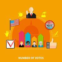 Parlamentsvalskandidater vektor
