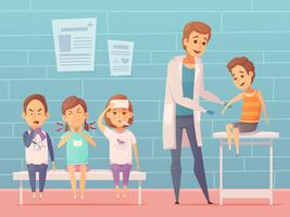 Kinder bei Ärzte Illustration