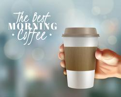 Morgonkaffe Bakgrund vektor
