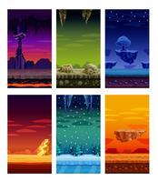Datorspel Färgrika Elements Cartoon Set