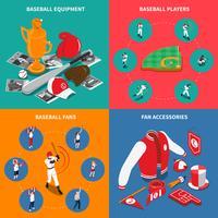 Baseball isometrisches Konzept