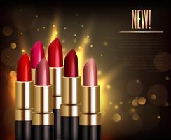 Lippenstift-Sortiment Hintergrund