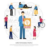 Socialt stöd för funktionshindrade personer