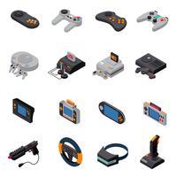 Spiel-Gadget-isometrische Ikonen-Sammlung