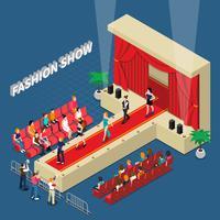 fashion show isometrisk komposition
