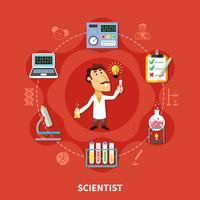 Kemisk vetenskapsman uppfinnare vektor