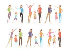 Familienargumente Zeichensatz vektor