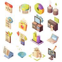 Isometrische Elementsatz für Datenanalyse