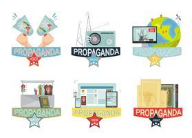 Ställ in propaganda ikoner