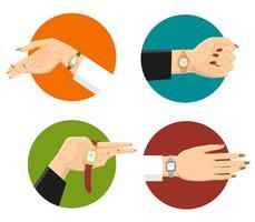 Frauen-Armbanduhr-Konzept des Entwurfes