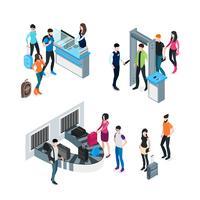 Flygplats isometrisk koncept