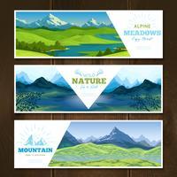 alpina ängar banderoller uppsättning