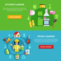 Reinigen Sie die Hausfahnen
