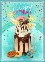 Extremes Freakshake-Geburtstagsfeier-Mitteilungs-Plakat vektor