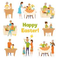 Frohe Ostern Familie Set