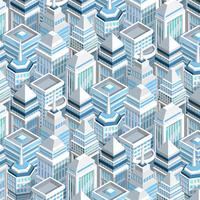 Stadtgebäude nahtlose Muster vektor