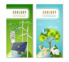 Ekologi Grön Energi 2 Vertikala Banderoller