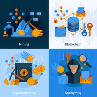 Virtuelle Währung Flat Style Konzept