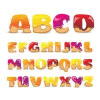 belagda wafers söta alfabetbokstäver