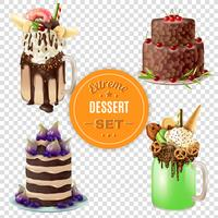 Extreme Dessertkombinationen transparent gesetzt vektor