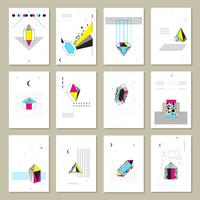 Polygonal Kristaller Mini Banners Collection