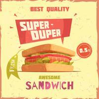 Super Duper Sandwich Reklamaffisch