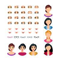 Mädchen-Gesichts-Gefühls-Erbauer