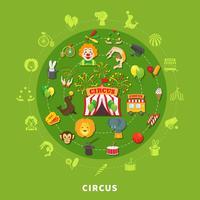 Zirkus-Vektor-Illustration