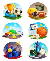 Bilder Collection of Sport Inventory vektor