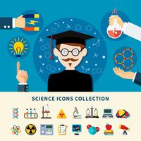 vetenskap ikoner samling