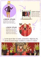 fashion event recension infographics vektor