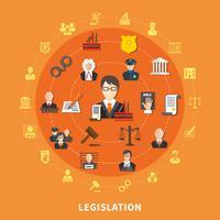 Gesetz Runde Zusammensetzung vektor