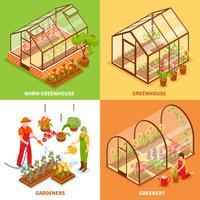 växthus koncept set