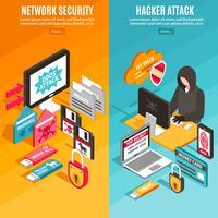 internet hacker banners vektor